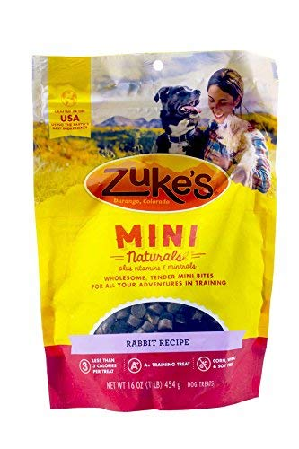 Zuke's Mini Naturals Dog Treats, Wild Rabbit, 3 Pounds (Pack of 3)