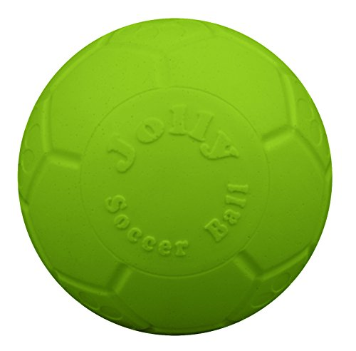 Jolly Pets Large Soccer Ball Floating-Bouncing Dog Toy, 8 inch Diameter, Apple Green
