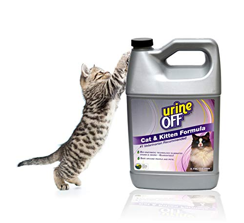 Urine Off Odor and Stain Remover for Cats, 1 Gallon