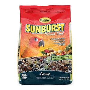 Higgins Sunburst Conure Bird Food, Gourmet Blend with fruits & Veggies, 3 lb. Bag Fast Delivery, by Just Jak's Pet Market