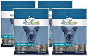 Barkworthies All Natural Dog Treats - Protein Rich Kangaroo Jerky Dog Treats (4oz.) Pack of 4