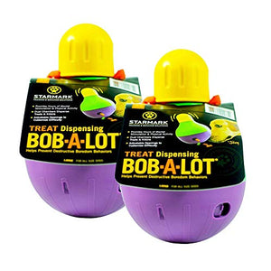 StarMark Bob-A-Lot Interactive Dog Toy (2 Pack)