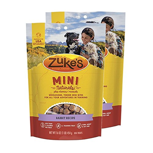 Zuke's Mini Naturals Dog Treats Rabbit Recipe 16 oz 2 Pack