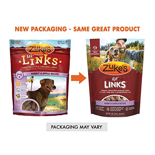 Zuke's Lil' Links Healthy Little Sausage Links for Dogs, Rabbit, 6 Ounce
