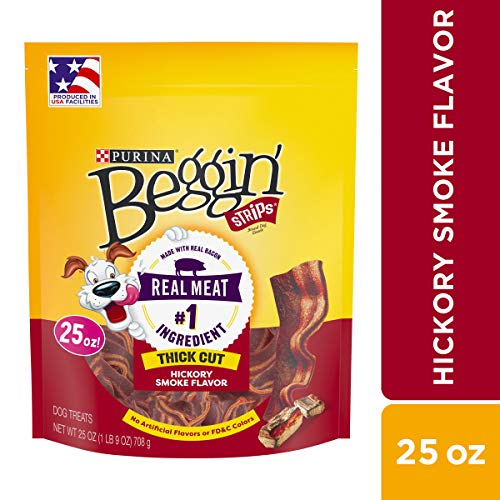 Purina Beggin' Strips Thick Cut Hickory Smoke Flavor Dog Treats