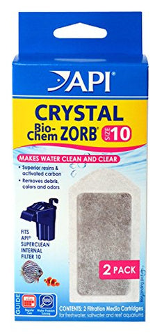 API 4 Count Crystal Bio-Chem Zorb Internal Filter Cartridge