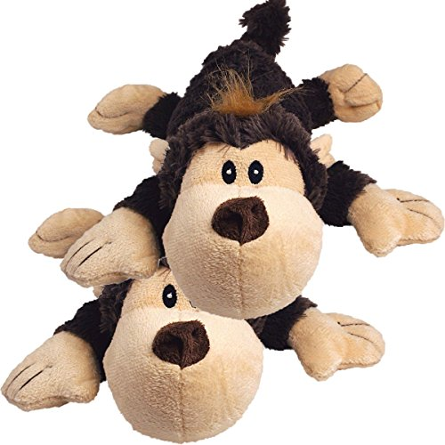 KONG Spunky Monkey Cozie Dog Toy, Small (2 Pack)