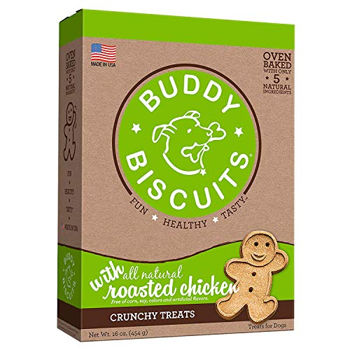 Buddy Biscuits Oven-Baked, Healthy Whole-Grain, Crunchy Treats for Dog