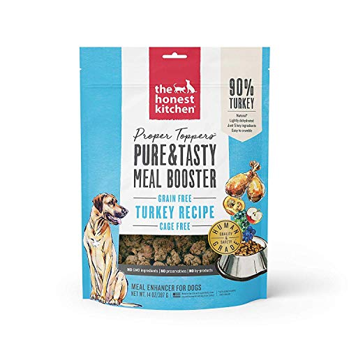 Honest Kitchen Human Grade Dehydrated Grain Free Dog Food Topper, Cage Free Turkey, 28 oz