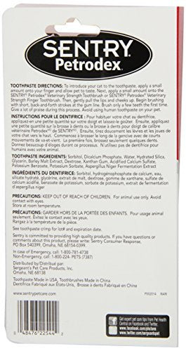 Petrodex Sentry Dental Kit Cats, Malt Toothpaste, 2.5 oz