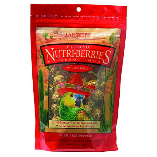 LAFEBER'S El Paso Nutri-Berries Pet Bird Food, Made with Non-GMO and Human-Grade Ingredients, for Parrots, 10 oz