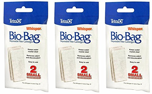 Tetra Whisper Assembled Bio-Bag Filter Cartridges Small - 6 Total Filters (3 Packs with 2 Filters per Pack)