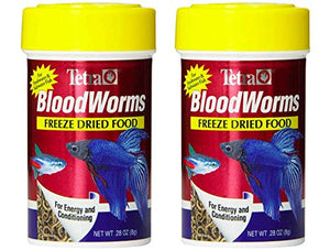 Tetra Blood Worms Freeze Dried Treat - Pack of 2