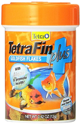 Tetra TetraFin PLUS Goldfish Flakes with Algae Cleaner Water Formula