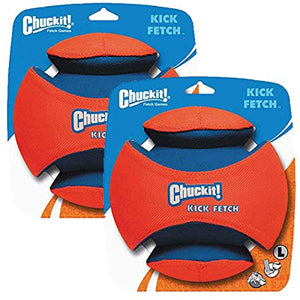 Chuckit Kick Fetch Toy Ball for Dogs, Large (2 Pack)