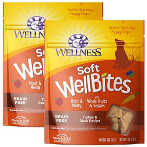 Wellness Natural WellBites Soft Dog Treats (Turkey & Duck, 12-Ounce)