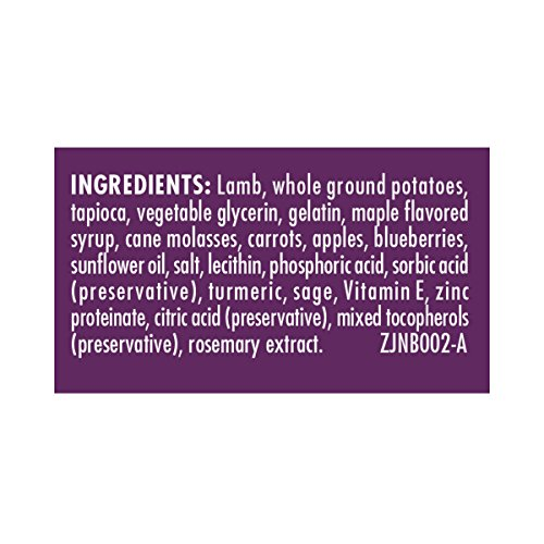 Zuke'S Jerky Natural Bites Lamb Recipe Dog Treats - 6 Oz. Pouch