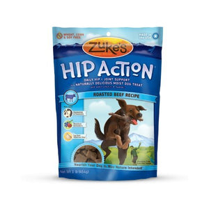 Zuke's Hip Action Natural Dog Treats Roasted Beef Recipe, 16-Ounce (Pack of 2)