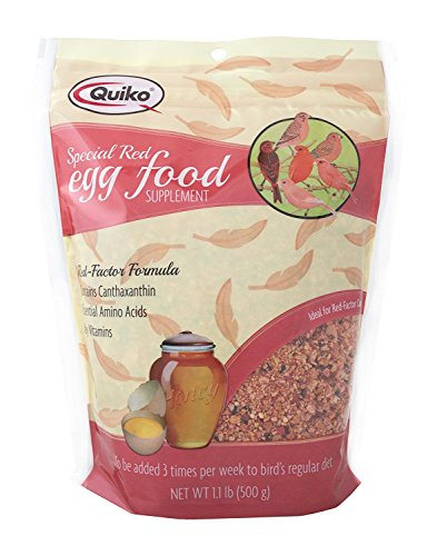 Quiko Special Red Egg Food Supplement, Red-Factor Formula with Canthaxanthin for Canaries, 1.1 lb. Pouch (2-Pack)