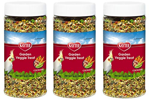 Kaytee 3 Pack of Garden Veggie Cockatiel Treats, 10 Ounces Each