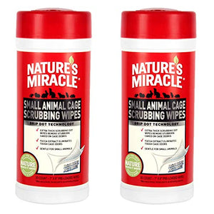 Nature's Miracle 60 Count Small Animal Cage Scrubbing Wipes