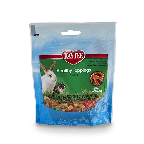 Kaytee Fiesta Healthy Toppings Papaya Treat for Small Animals, 2.5-oz Bag