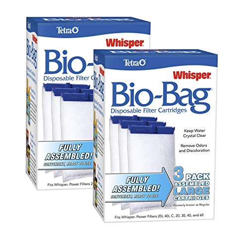 Tetra Whisper Assembled Bio-bag Filter Cartridges, Large, 6-Count