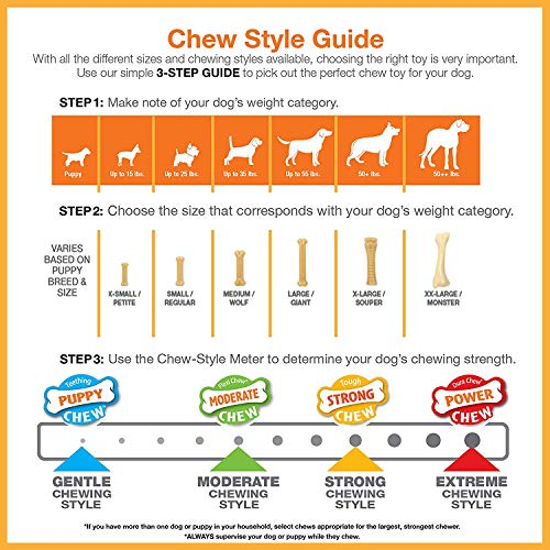 Nylabone Double Action Chew Toys for Dogs (2 Pack)