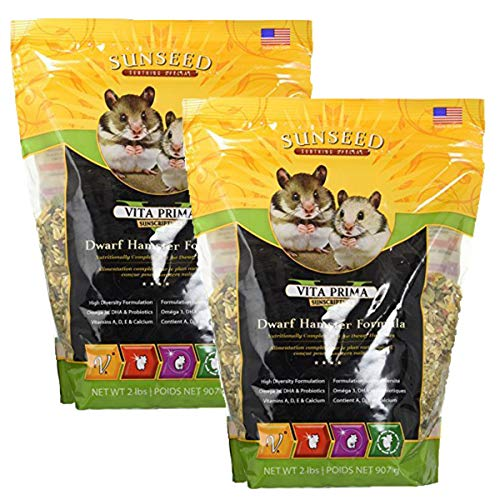 Sunseed Vita Prima Sunscription Dwarf Hamster Formula (2 lb / 2 Pack)
