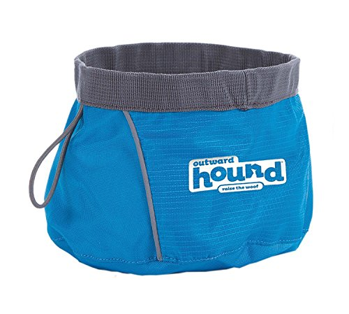 Port a Bowl Collapsible Hiking and Travel Folding Food and Water Bowl for Dogs by Outward Hound, Large (2 Pack)