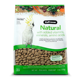 ZuPreem Natural Large Bird Food (6 lb)…