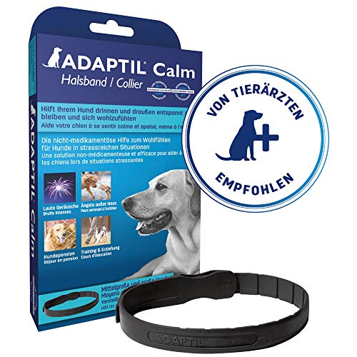 Adaptil Calming Pheromone Collar for Medium Large Dogs. Max Adjustable Neck Size 24.5 Inch