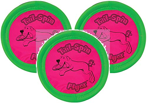 Booda 3 Pack Tail-Spin Flyer Dog Toys, 10-Inch