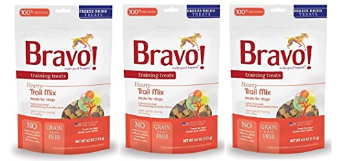 Bravo! Freeze Dried Trail Mix Training Treat for Pets, 4-Ounce - 3 PACK