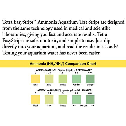 Tetra EasyStrips Ammonia Aquarium Test Strips, 100-Count