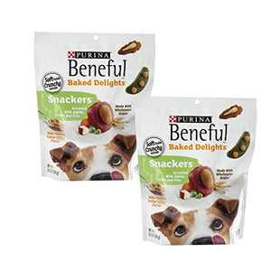 Purina Beneful Baked Delights Dog Snacks - Snackers - Peanut Butter & Cheese Flavors - Net Wt. 9.5 OZ (269 g) Each - Pack of 2