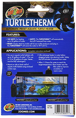 Zoo Med Labs 100W Turtletherm Aquatic Turtle Heater