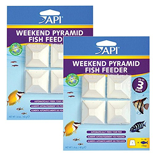 API 3-Day Pyramid Automatic Fish Feeder, 8-Pack