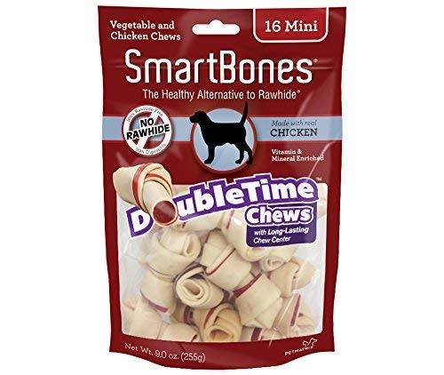 Smartbone DoubleTime Chicken Dog Chew FamilyValue 2Pack (Mini-16Pieces)-jnH