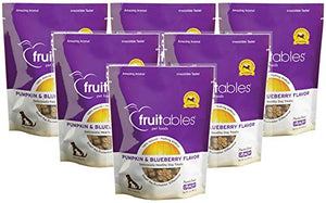 Fruitables Pumpkin & Blueberry Crunchy Dog Treats, 7oz Pouch (Pack of 6)