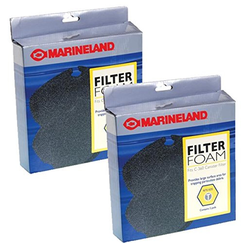 Marineland PA11483 C-360 Canister Filter Foam, 2-Pack