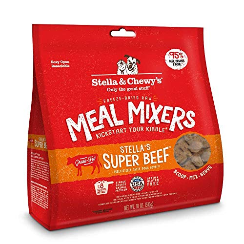 Stella & Chewy's Freeze-Dried Raw Super Beef Meal Mixers Dog Food Topper, 18 oz bag (2 pack)