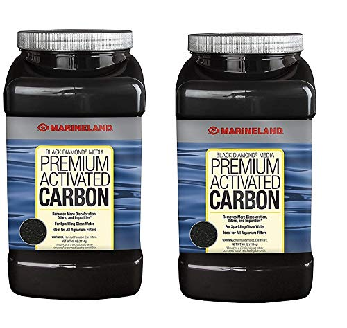 Marineland Black Diamond Media Premium Activated Carbon, 40 Ounce