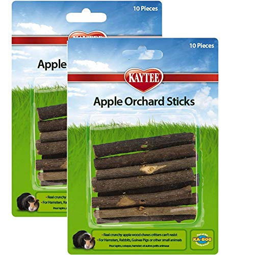 Superpet (Pets International) SSR61126 Wood Small Animal Apple Orchard Chew Sticks, 20-Count