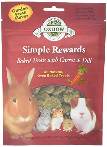 NEW Oxbow Simple Rewards All Natural Oven Baked Treats with Carrots, Dill and Timothy Hay for Rabbits, Guinea Pigs, Hamsters and Other Small Pets 2oz
