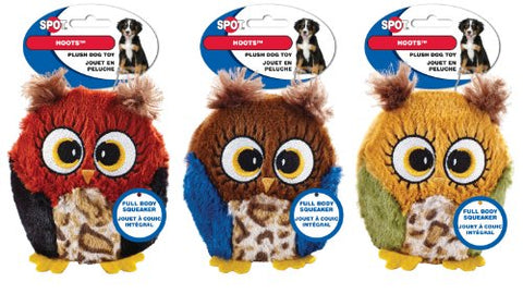 Ethical Pets Hoots Dog Toy, 3-Inch