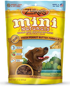 Zuke's Mini Naturals Healthy Moist Training Treats 1 lb Peanut Butter (3 Pounds total) by Zuke's