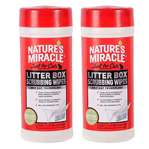 Nature's Miracle Just for Cats Litter Box Scrubbing Wipes, (NM-5574) (Pack of 60 Wipes)