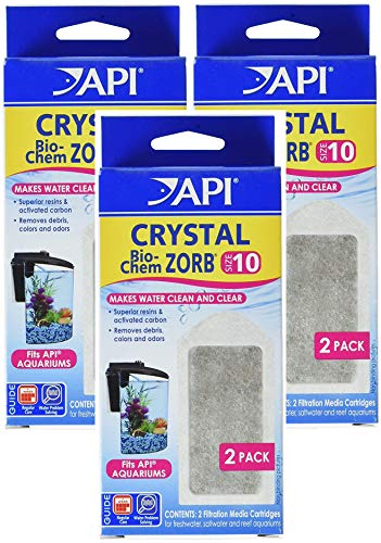 API (3 Pack) Crystal Bio-Chem Zorb Internal Filter Cartridges, Size 10, 2 Filters Each