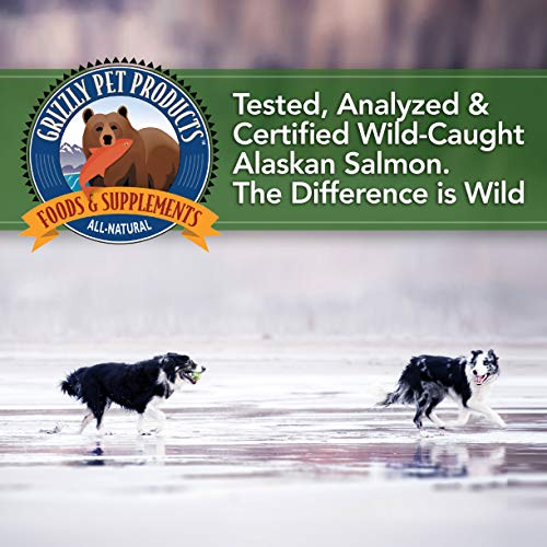 Grizzly Wild Alaskan Salmon Oil Dog Food Supplement Omega 3 Fatty Acids, 8 oz